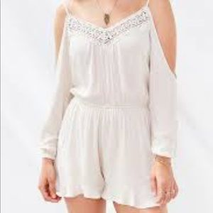 urban outfitters ecote cream romper